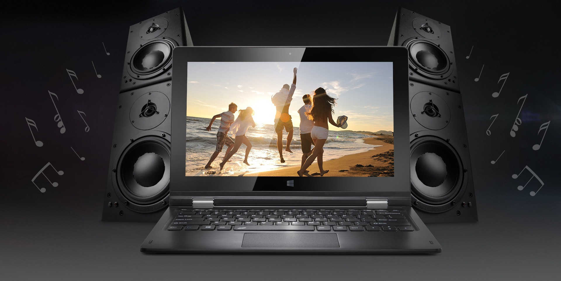 Boxe stereo in laptopul Freedom 1160 WIN